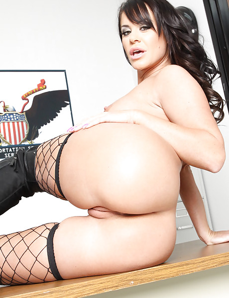 Busty brunette bitch takes her lingerie off and gets her hungry vagina drilled hard