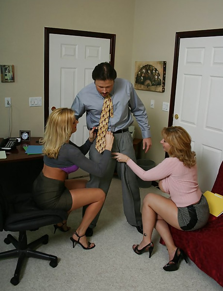 Good looking MILF slut and her sexy friend share a big throbbing wood together