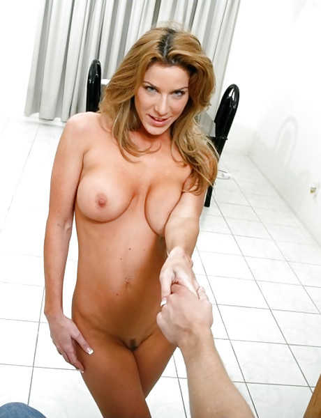 Smoking hot blonde MILF takes her clothes off and takes a wild ride on big hard cock.