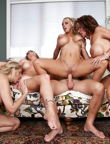 Lusty blonde bitch and her classy friend fuck together with the same horny dude.