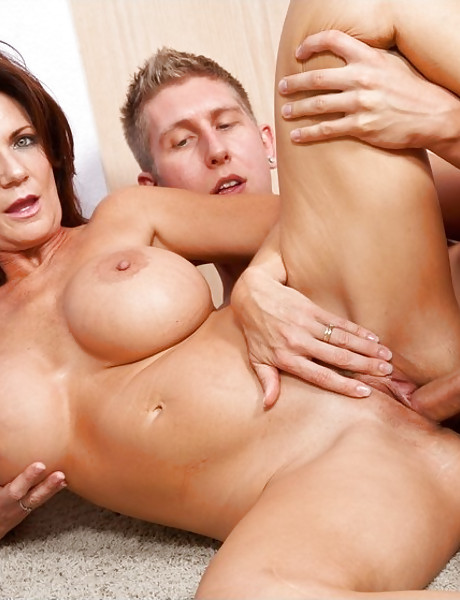 Busty MILf wife takes her summer dress off and gets fucked by handsome dude.
