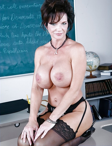 Fine milf teacher in stockings not just