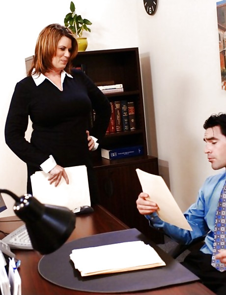 Classy MILF babe screams hard as she gets fucked in her office from behind.