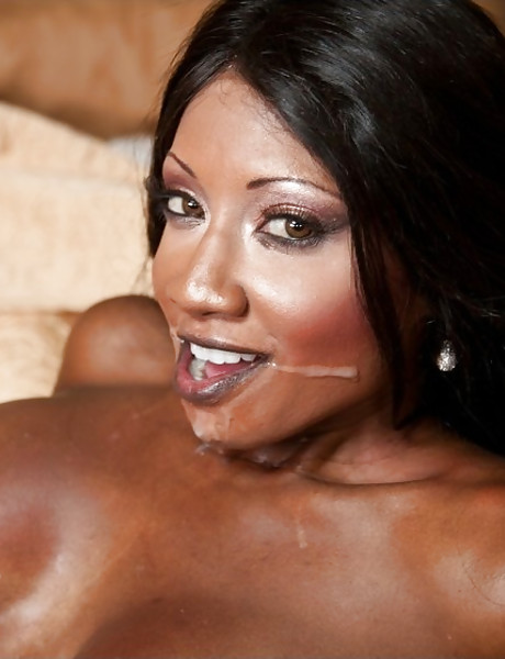 Classy black slut takes her pink lingerie off and gets roughly fucked by white shaft.