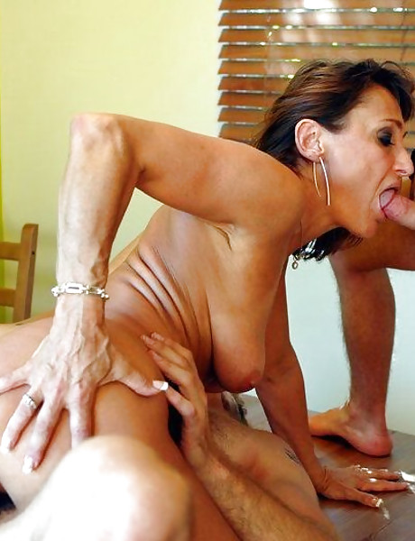 Hot busty mature vixen spreads her legs and gets her fanny banged hard and fast.