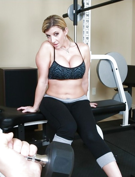 Busty mature vixen strips her underwesar in the gym and gets banged by big cock.