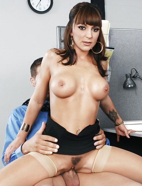 Classy mature hoe strips her lingerie in the office and rides a big fat dong.