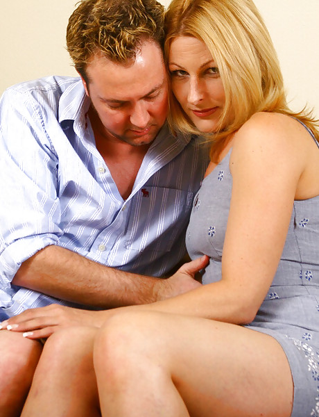 Wild and randy blonde milf with tight booty getting her shaved cunny banged hard