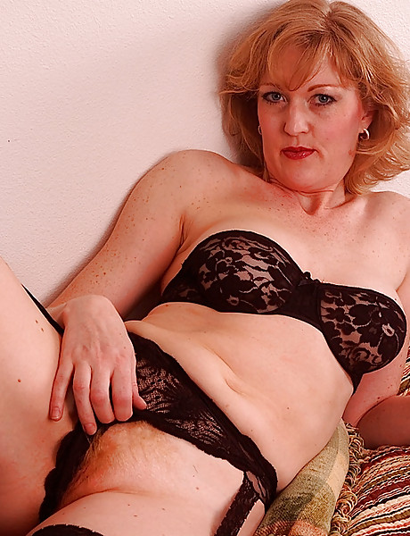 Sexy Blonde Granny In Laced Stockings Fucks Y