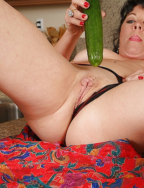 Girl cucumber with public masturbating