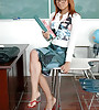 Horny redhead teen schoolgirl takes her mini skirt and rides her teacher's dong.