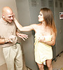 Attractive brunette MILF strips in the locker room and gets roughly fucked by a stud.