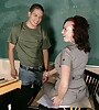 Busty and classy brunette MILF teacher seduces a student and gets fucked hard.