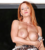 Kinky gorgeous redhead with big round boobs and a hot ass plays with a kinky vibrator