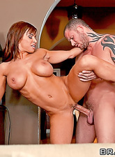 Smoking hot MILF bitch spreads her legs and gets her tight cunt pumped hard.