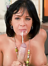Busty MILF bitch takes her lingerie off and gets her trimmed cunt banged roughly.