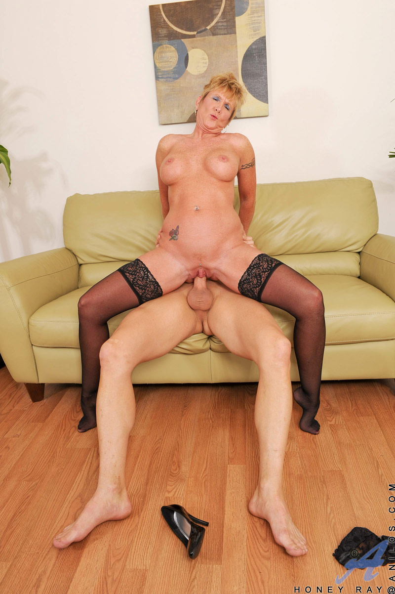 horny granny in a hot corset and black stockings has awesome wild