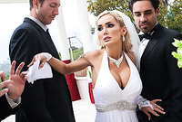 Devon takes her sexy white wedding dress off adn gets screwede by her best man