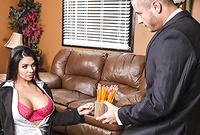 Missy Martinez takes her slutty lingerie off and teases us with her amazing round big breasts