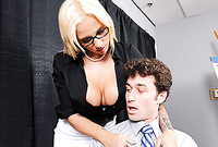 Lylith LaVey takes her classy outfit in the office and then fucks with her passionate well hung lover