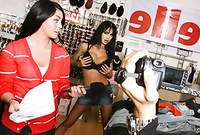 Angelina Valentine takes her clothes off for the camera and gets her wet meat hole banged hard and fast