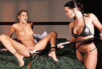 Cindy Dollar and Cindy Hope strip their sexy lingerie before the camera and have amazing lesbo sex before the camera
