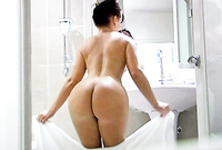 Katja Kassin takes her sexy black panties off and teases us with her amazing piece of hot ass