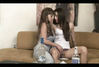 Celeste Star and Jewels Jade strip together before the camera and have intensive passionate sex