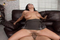 Vannah Sterling shows us her amazing big jugs as she gets her tight vagina drilled by big piece of hard wood