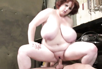 Sapphire (f) shows us her amazing plump breasts as she gets her hungry fat muff drilled by big throbbing piece of meat