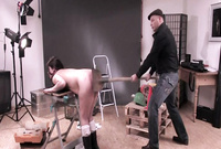 Slutty brunette in balck boots gets her ass spanked and then brutally fucked by aggressive bloke