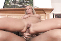 Kayla Synz spreads her sexy legs for the camera and gets her asshole drilled hard and fast