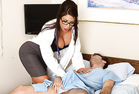 Mason Moore screams and moans while she gets her tight meat hole banged by one of her patients