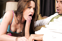 Lily Carter screams and moans while she gets her little wet pussy drilled by hard throbbing shaft