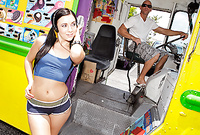 Ashli Orion screams and shouts as she gets her little wet fanny banged by bus driver's trhobbing meat rod