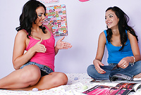 Tiffany Tyler and her attractive brunette friend take their clothes off together and then have amazing hot sex