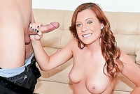 Jessica Heart screams and shouts while she gets her tight vagina drilled by big stiff cock in front of the camera