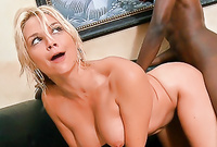 Sarah Vandella shows us her fantastic big jugs and screams as she gets her pussy drilled by huge black dong