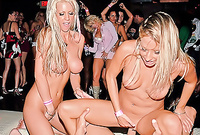 Tanya James and her foxy slutty friend strip together in front of the camera and have fantastic wild group sex