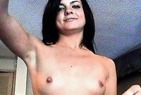 Stephanie Sage takes all of her clothes before the camera and gets her hungry vagina nailed hard and fast until she cums