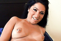 Nikki Cruz takes her sexy black dress off and gets her tight muff drilled hard and fast