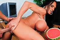 Lisa Lipps takes her sexy lingerie off and gets her tight cunt nailed hard and fast until she cums