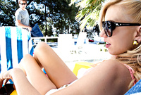 Lexi Belle spreads her sexy legs and gets her tight muff drilled by throbbing hard schlong