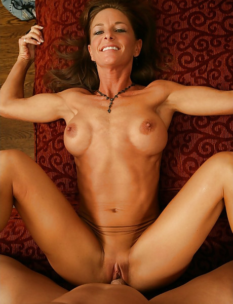 Foxy brunette mature vixen spreads her legs and gets her muff nailed hard and fast.