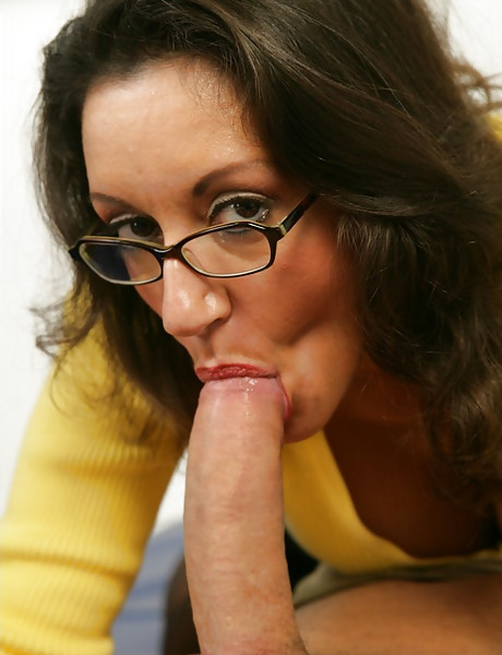 Classy busty MILF teacher takes her sexy outfit and fucks in black stockings.