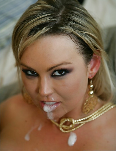 Hot busty blonde MILF removes her black lingerie and gets rammed from behind.