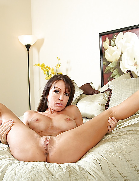 Sexy and horny brunette baeb gets rid of her undies and shows her ass, tits and cunt