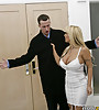 Busty and classy MILF bitch shares a good younger cock with her sexy friend.