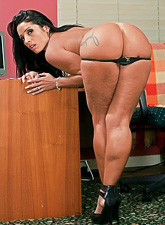 Lusty tattooed MILF screams hard as she gets her fanny rammed hard and fast.