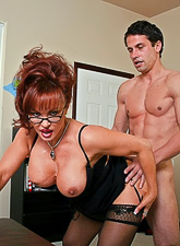Big breasted MILF whore takes her clothes off and gets nailed in sexy lingerie.